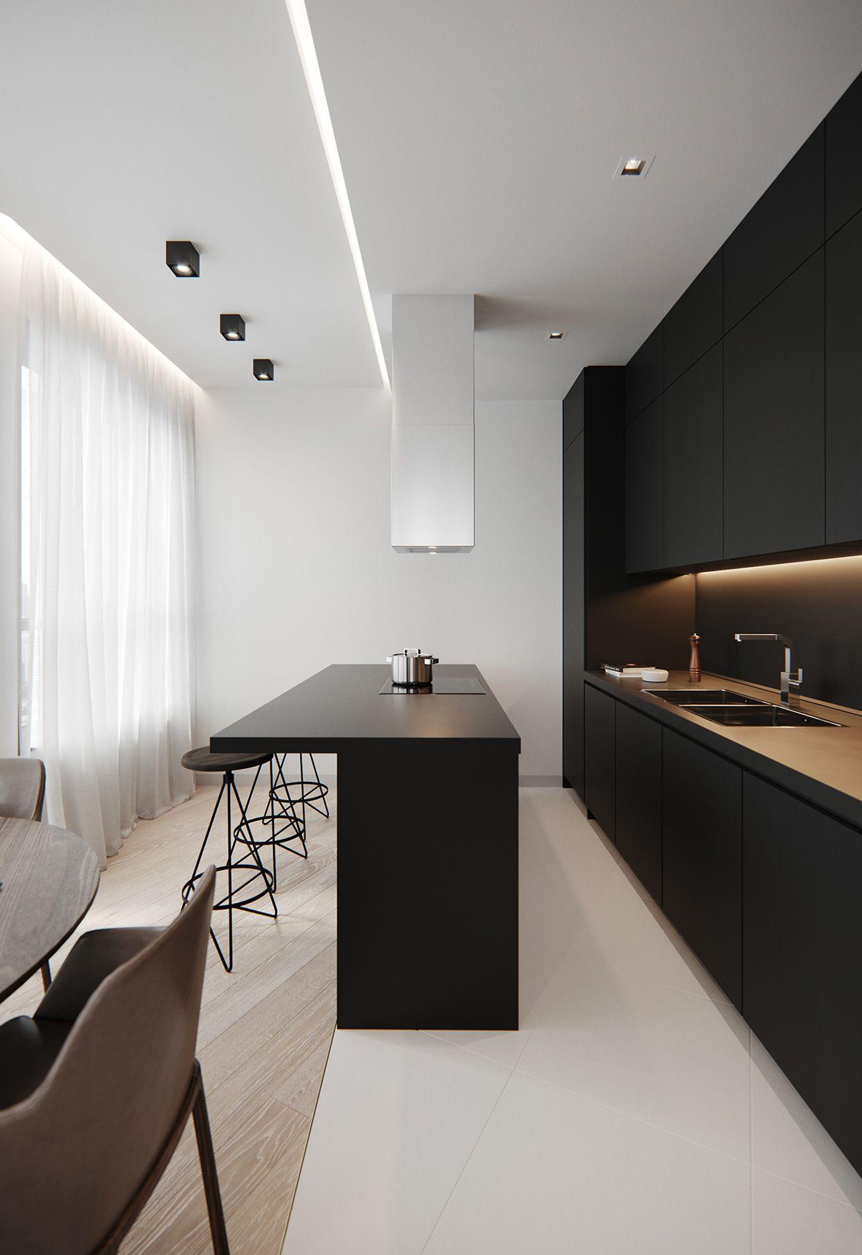kitchen black  Ideen für moderne Küchen  Pinterest  Kitchen