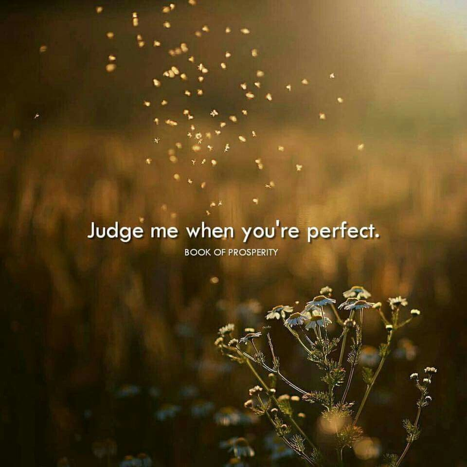 Judge Me When Youre Perfect Book Of Prosperity Motivation