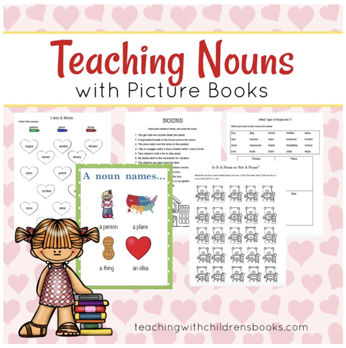 Free Teaching Nouns With Picture Books Printable Pack