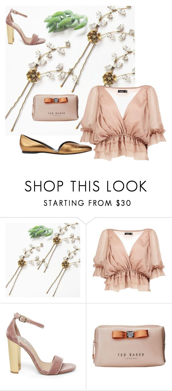 """Lana Marie Couture - beautiful hairpiece"" by mileypiters ❤ liked on Polyvore featuring Boohoo, Steve Madden, Ted Baker and Pierre Hardy"
