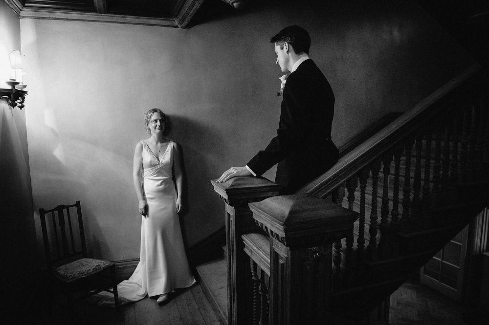 Hampton Court House Wedding Photography by David @ Married to My Camera. www.marriedtomycamera.com Tel: 01483 338268 or email: david@marriedtomycamera.com #hamptoncourthouse #surreyweddingvenues #blackandwhiteweddingphotograph #traditionalenglishwedding #winterweddingportraits