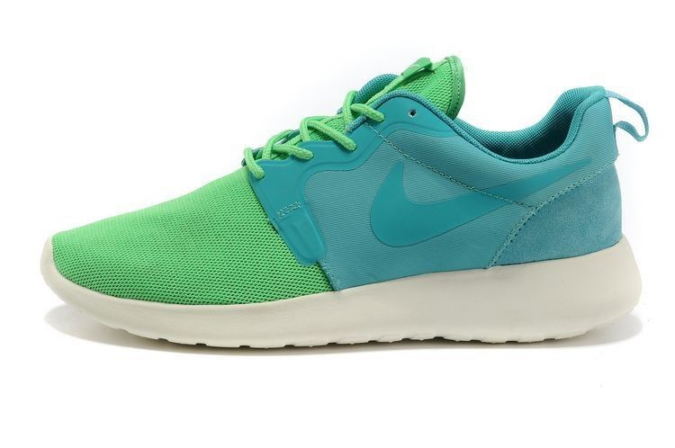newest elegant shoes reasonable price Chaussures Nike Roshe Run HYP QS Homme Lime Turquoise En ...