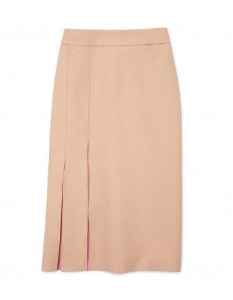 Split Crêpe Skirt