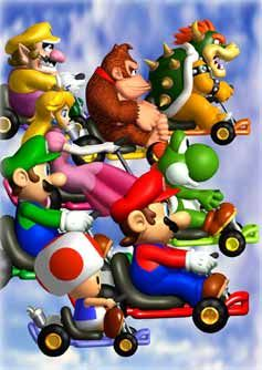 Mario Kart Super Circuit Game Boy Advance Artwork Including