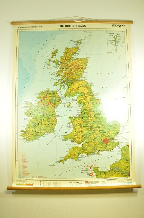 Map Of Germany For Sale.Here I Have For Sale Beautiful Vintage School Map Made In Germany In