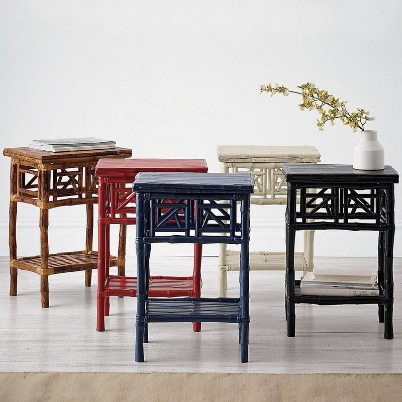 A Modern Reinterpretation Of The Classic Rattan Table. Handcrafted Of  Renewable Rattan And Bamboo,