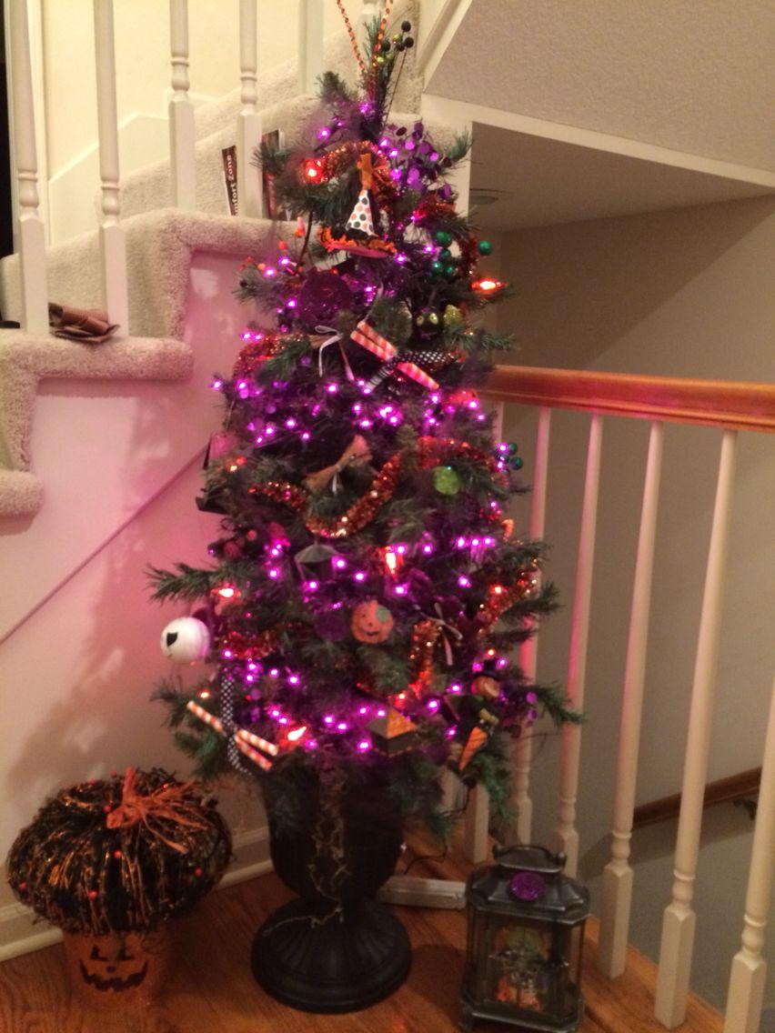 Halloween Urn Decorations Captivating My Halloween Tree In A Black Urn  Halloween Decorating Review