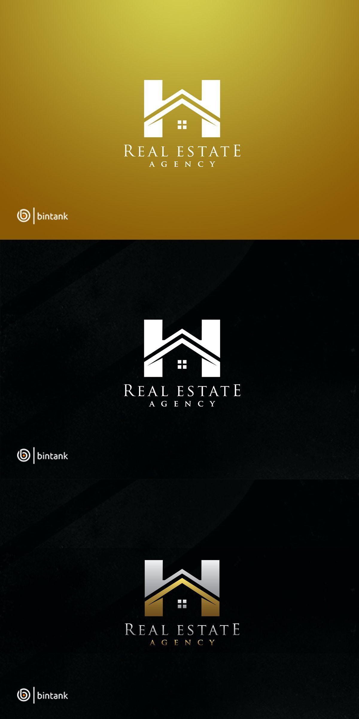 Golden House H letter Logo Property logo design