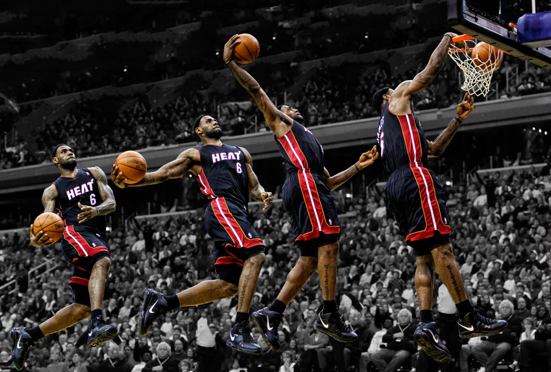 Hi84 Lebron James Nba Basketball Dunk Wallpaper: LeBron James Slum Dunk Step HD Wallpaper