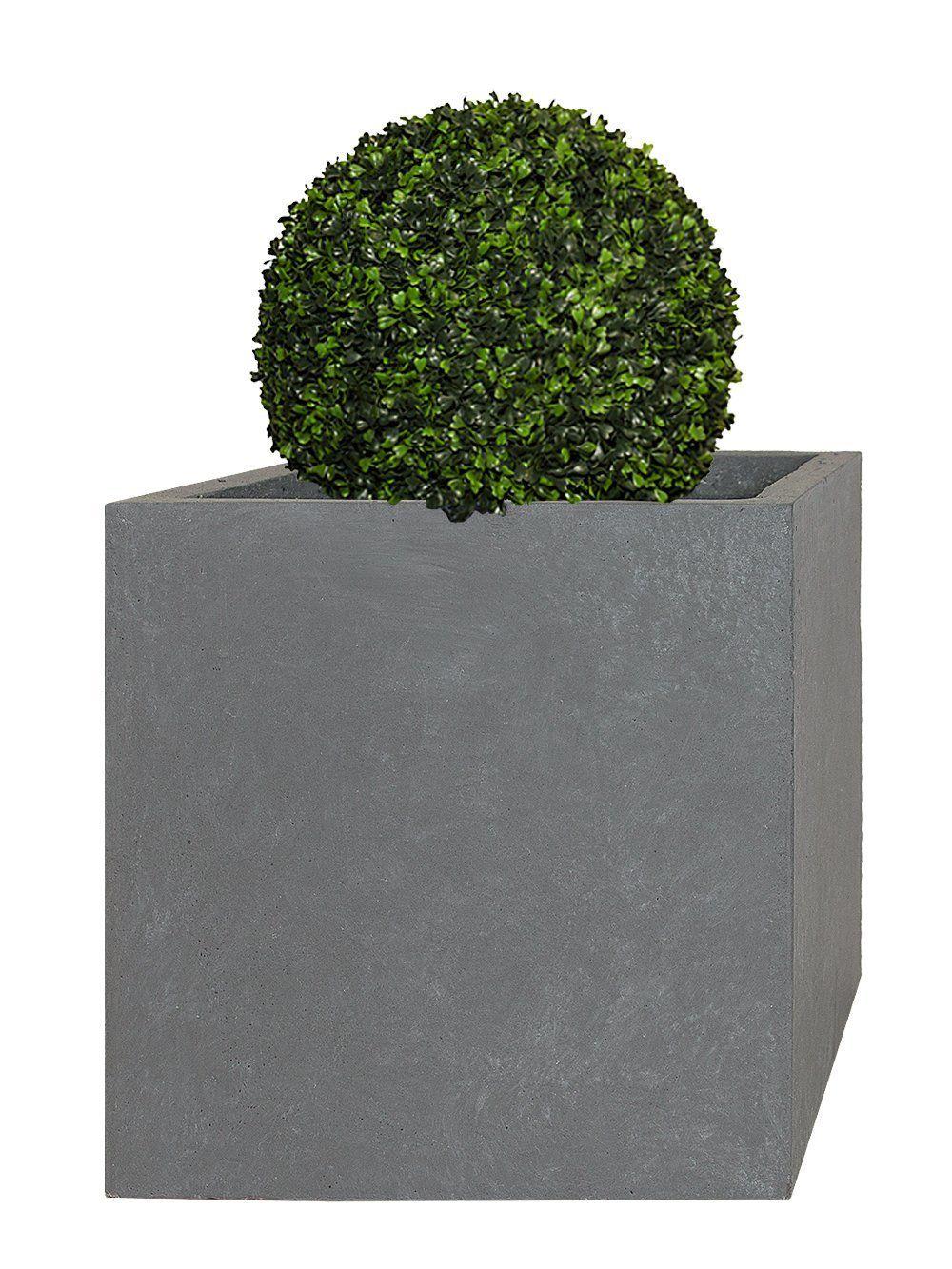 Pflanzwerk Pflanzkubel Cube Grau 38x44x44cm Frostbestandig Uv