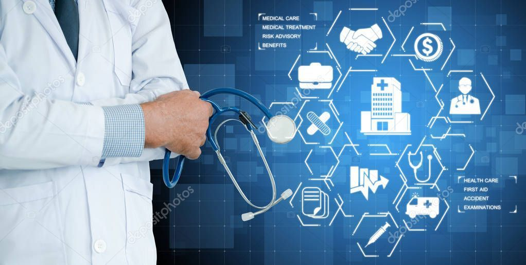 Fantastic Photo Doctor With Health Insurance Healthcare Graphic