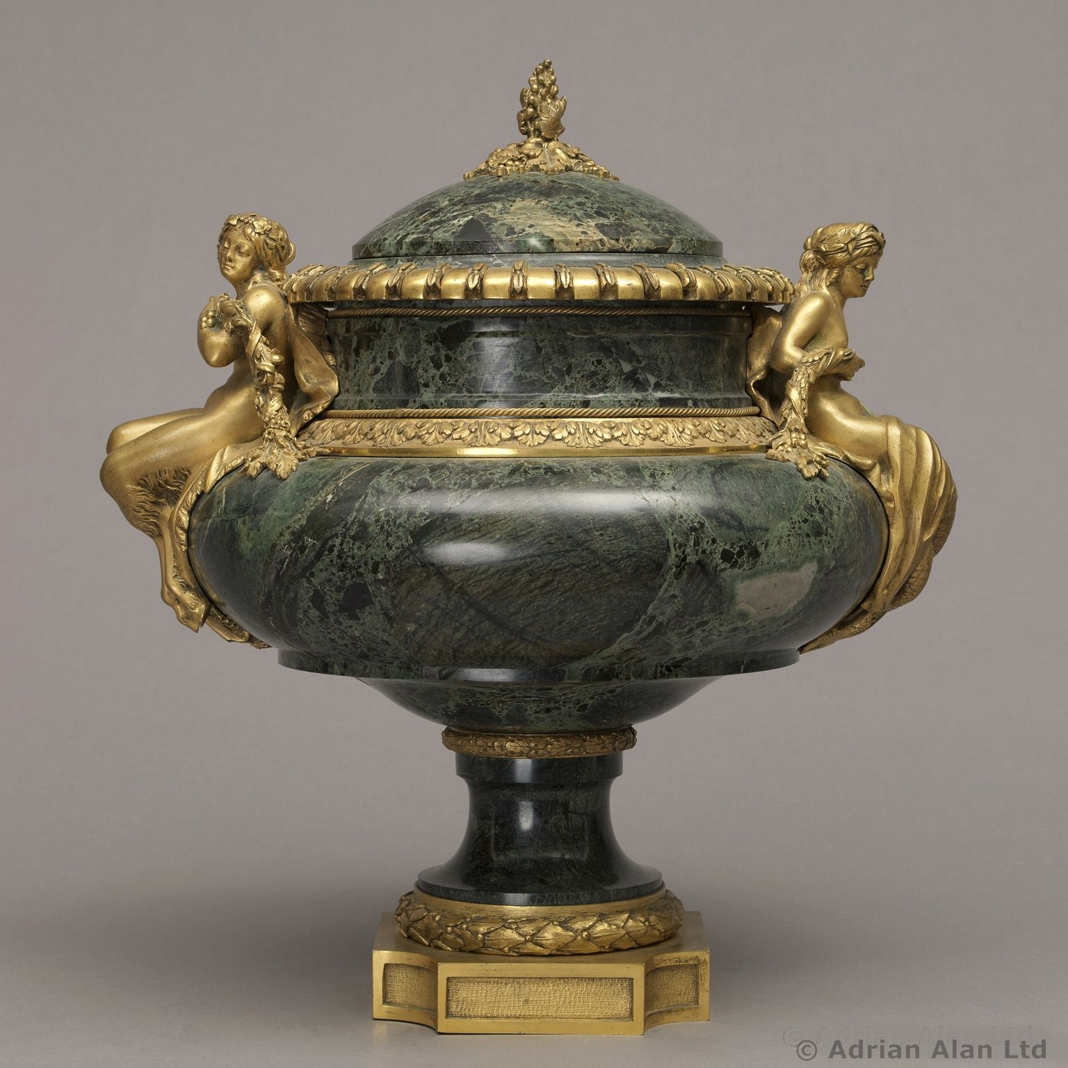 A Fine Louis XVI Style Gilt-Bronze Mounted Marble Urn Probably By Paul Sormani - #adrianalan