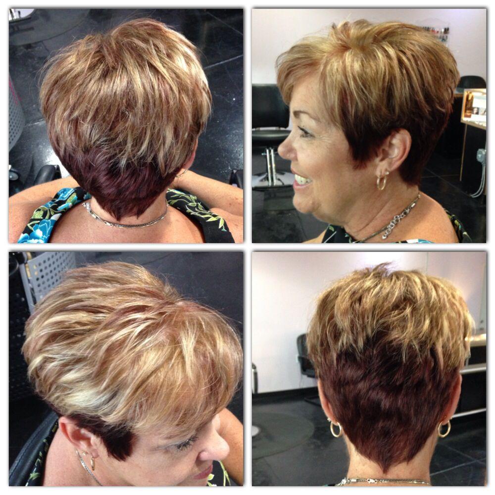 Exclusive, transformation, color, grey hair, grey coverage, short ...