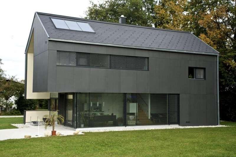 Moderner holzbau satteldach  Eternit Fassadenplatten Großformat | Fassaden | Pinterest ...
