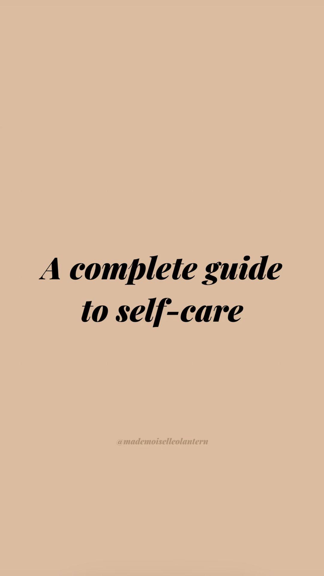 Self-care guide