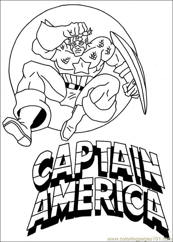 The Captain America Who Was Jumping Very High Coloring For Kids   Captain America  Coloring Pages : KidsDrawing U2013 Free Coloring Pages Online