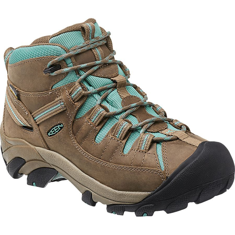 2a4bc98fceac KEEN Targhee ll Mid Hiking Shoe - Women s Shitake Mineral Blue up to Size 11