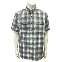 Field & Stream Short Sleeve Adventure Stretch Shirt - IronstonetonePlaid M