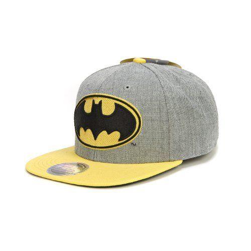044e36bed Batman DC Comics Dark Knight Movie Heather Gray Adjustable Snapback  Flatbill Cap Hat by C1,