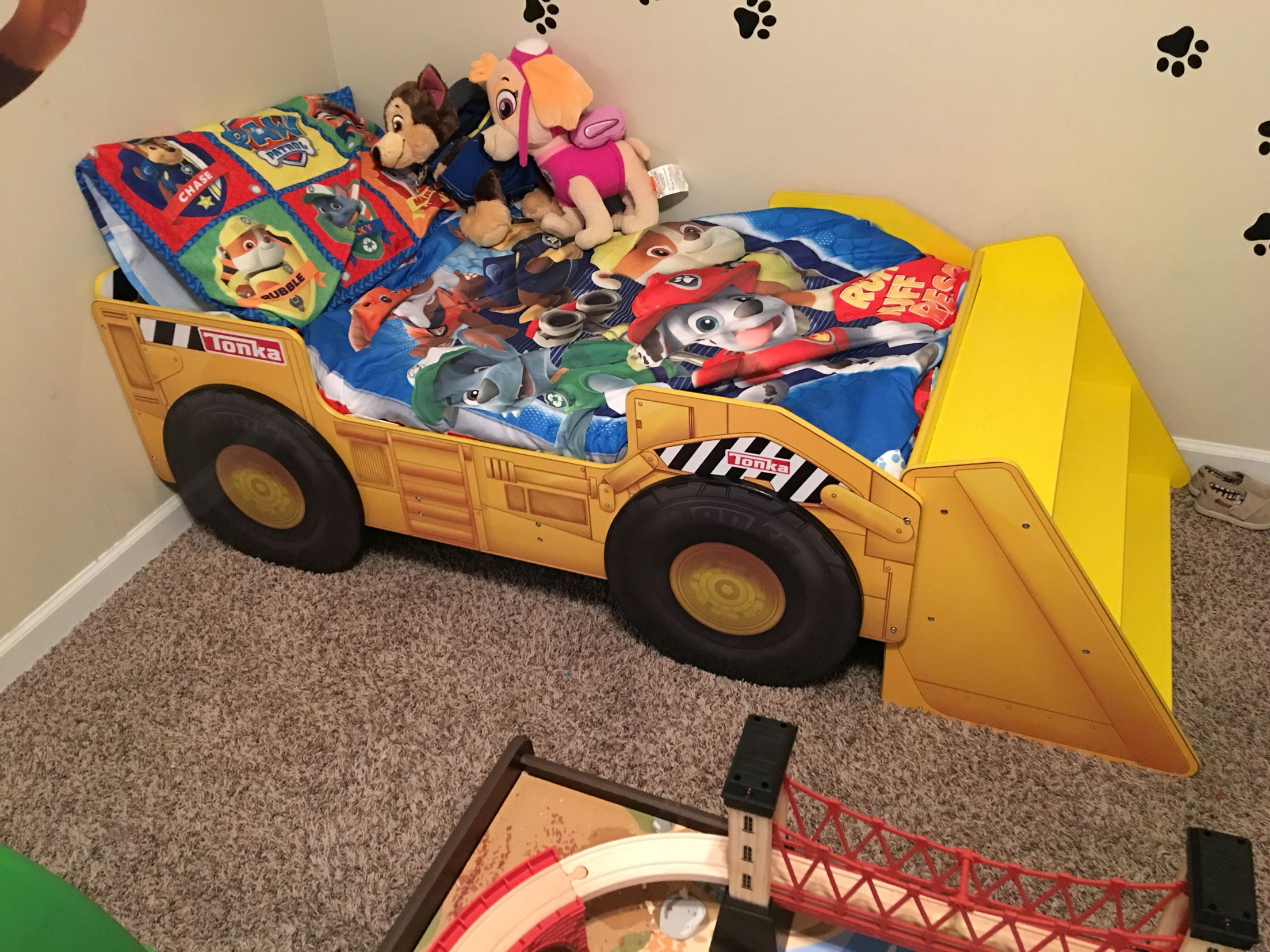 Tonka Bed For A Paw Patrol Room Paw Patrol Room Toddler And