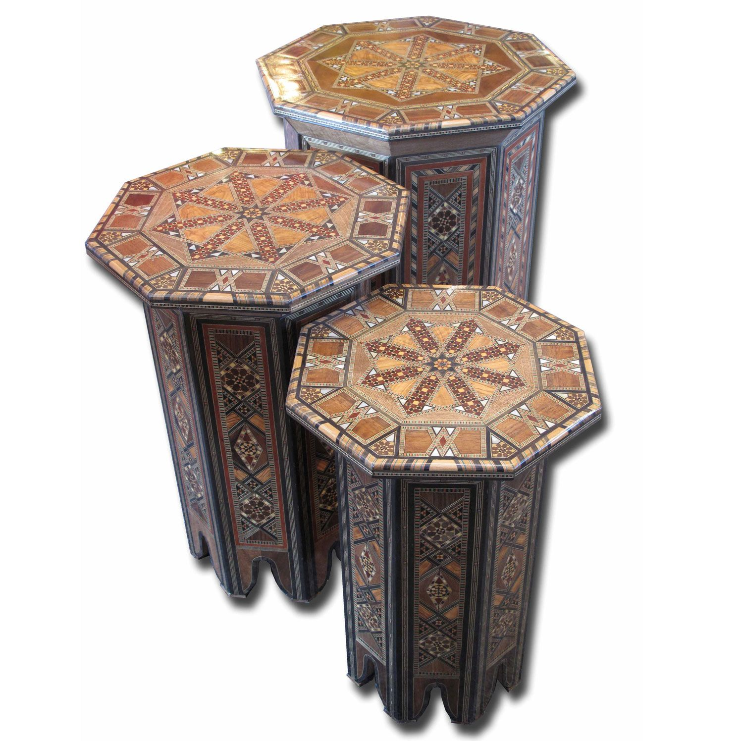 Moroccan & Syrian Furniture moroccan and syrian nesting tables