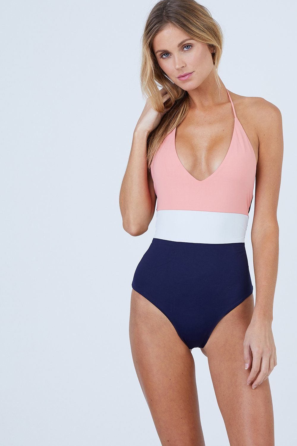 76384b5a5a Chase Reversible One Piece Swimsuit - Coral Color Block   BIKINI.COM