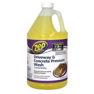 Zep 1 Gal Driveway And Concrete Pressure Wash Concentrate Cleaner Zubmc128 The Home Depot Pressure Washing Concrete Cleaner Cleaning
