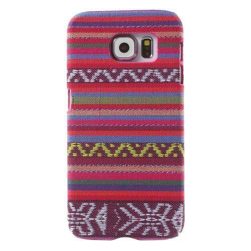 Javu - Samsung Galaxy S6 Hoesje - Back Case Hard Canvas Tribal Roze   Shop4Hoesjes
