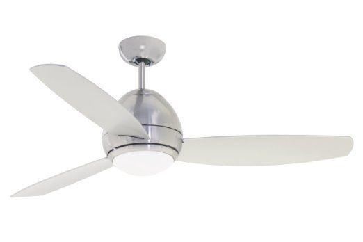 Emerson Cf252bs Curva Indoor Outdoor Ceiling Fan 52 Inch Blade Span Brushed Steel Finish Amazon Com Ceiling Fan With Light Ceiling Fan Emerson Ceiling Fan