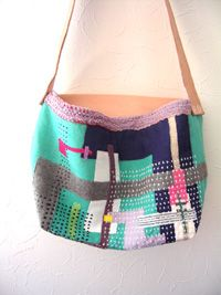 so many beautiful improv bags with wonderful hand quilting