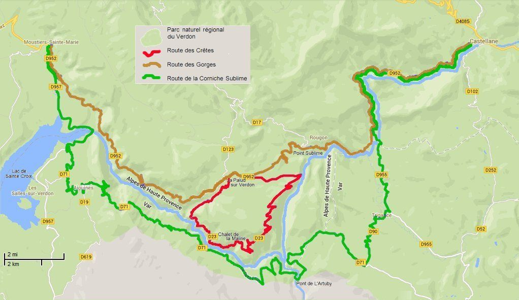 Small-scale map of routes through the Gorges du Verdon | 04 ... on traditional map, universal transverse mercator coordinate system, small area map, peters map, geographic coordinate system, political map, history of cartography, grid reference, geographic information system, cartographic relief depiction, space map, world map, organic map, large map, aerial photography, thematic map, spatial analysis, print map, small water map, small to large-scale, research map, small point map, compass rose, earth remote sensing, landscape map, map projection, mental map, contour line, general map, corporate map, linear scale, industrial map,