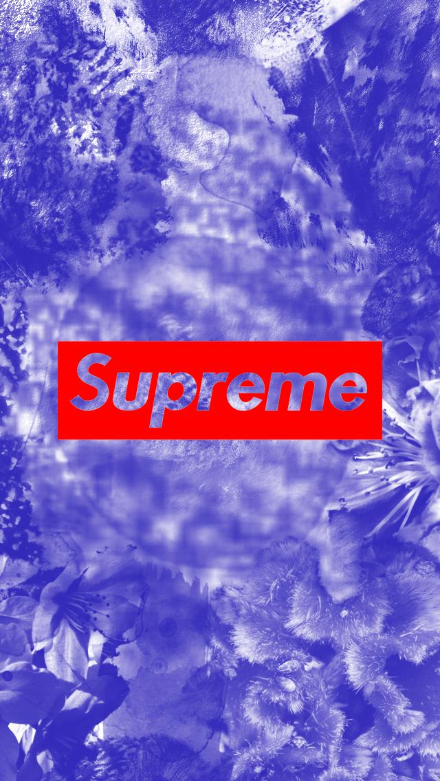 Supreme Blue Dye Wallpaper iPhone 5 by Joey Donaldson