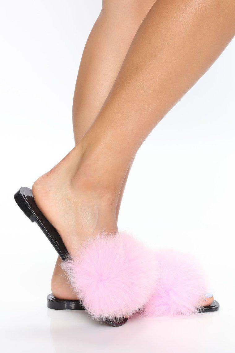 Shelby Fur Sandals Pink In 2020 Fur Sandals Sandals Fur
