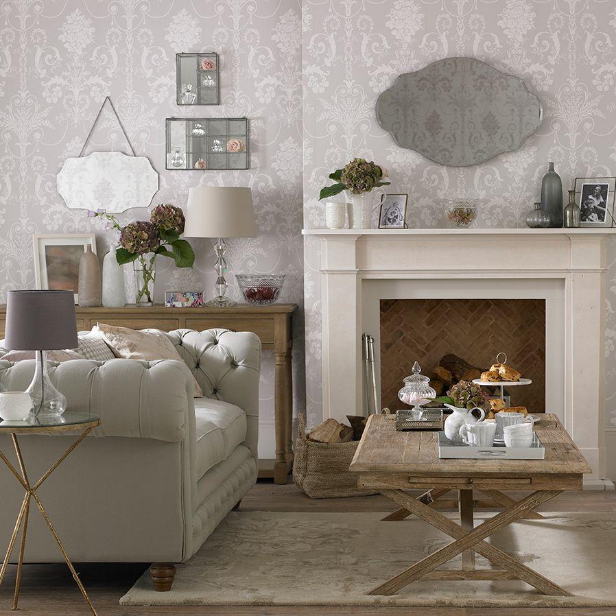 Josette Wallpaper Living Room Homebase Wallpaper