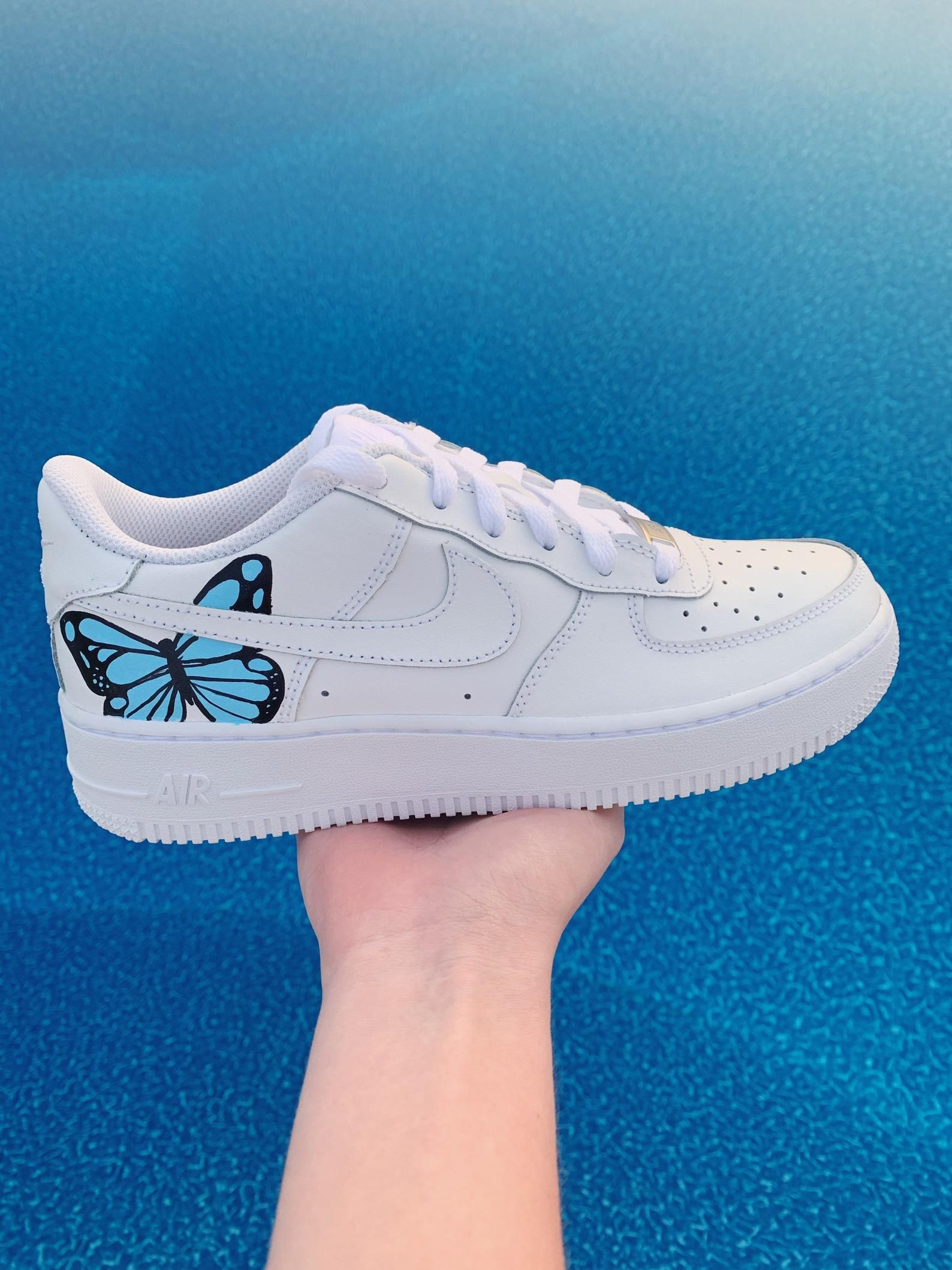 Butterfly Nike Air Force 1s AF1 Etsy in 2020 Nike
