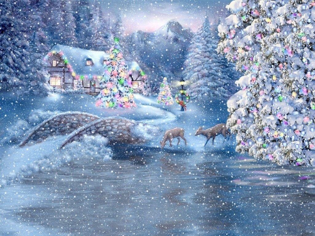 Facebook Christmas Background Winter