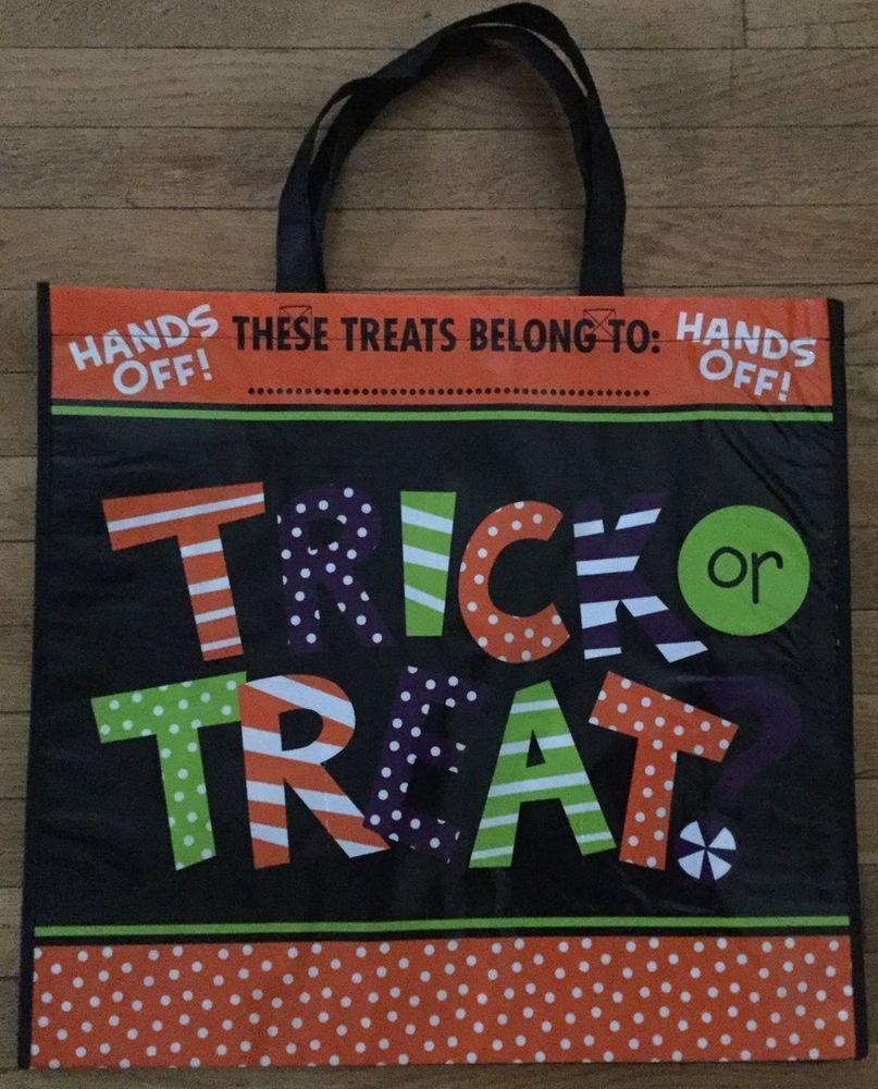 New Large CTS Halloween Themed Reusable Eco Friendly Grocery Bag Trick Or Treat