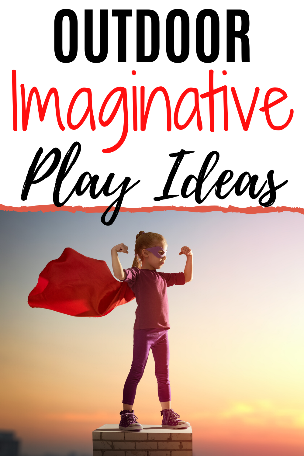 The best play space is the backyard. Kids can use their imagination and be anyone or anything. This article gives you great ideas for pretend play along with suggestions for props! #outdoor #kids #kidsactivities #backyardideas #backyardplay #backyardtoys #homeliving #childhoodtoys #kidsgames #toyideas