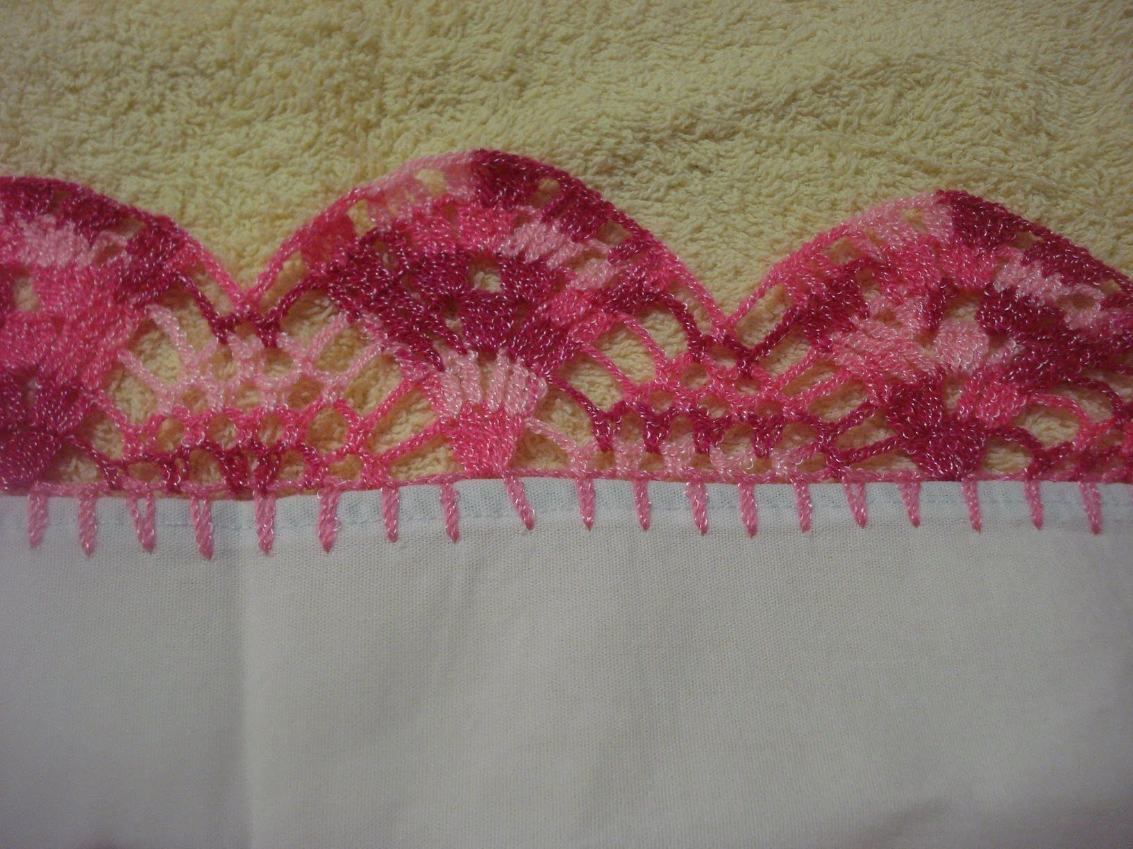 Crochet Orilla Tejida Ondas # 6 Servilleta   tejiendo   Pinterest