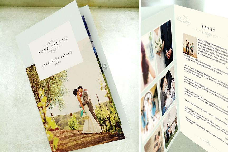 Photography Marketing Brochure Template Petit Jardin 8page Blog
