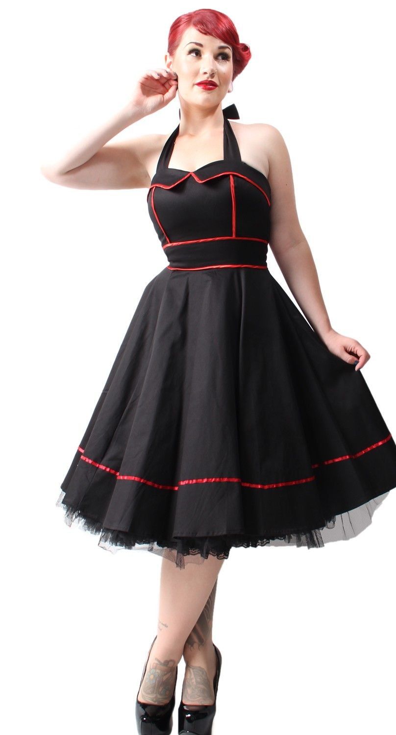 9b282943577cd7 Holding Out For A Hero Dress - Blame Betty Psychobilly