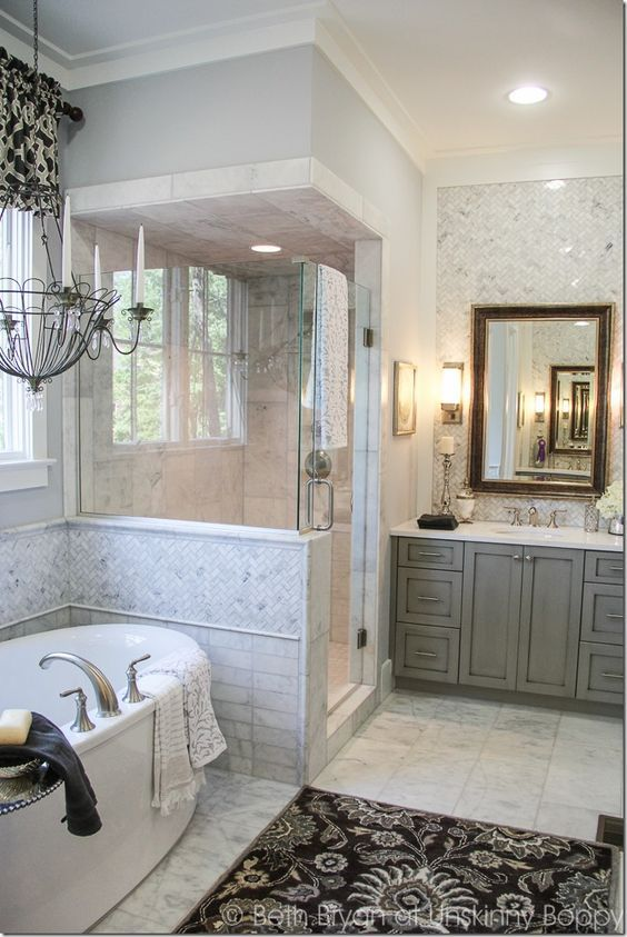 Bathroom Designs Love The Tile Behind Mirror 2017 Birmingham Parade Of Homes Decorating Ideas Built