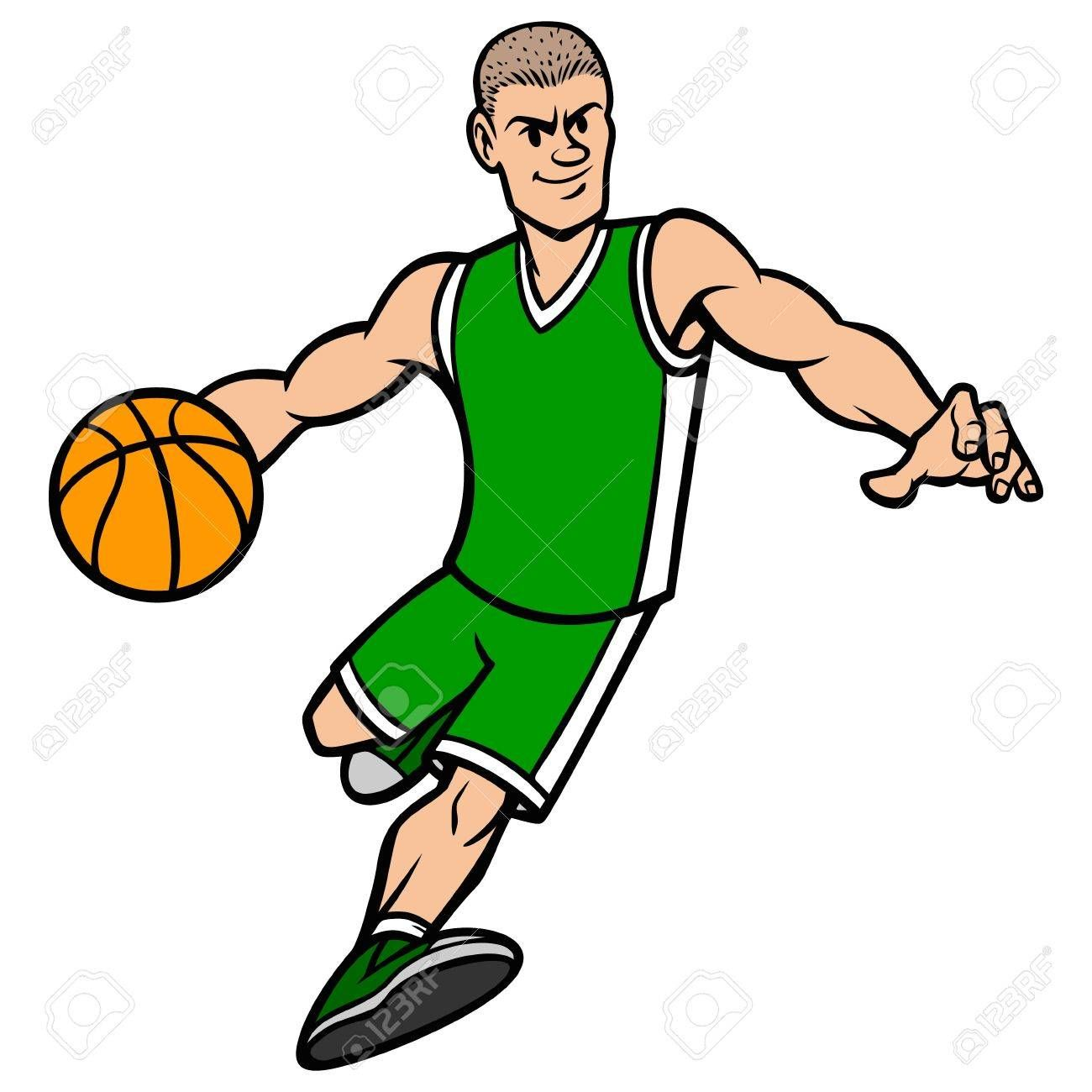 Basketball Player Dribbling The Ball Illustration Ad Player Basketball Dribbling Illustration Ball Basketball Players Cartoon Illustration Players