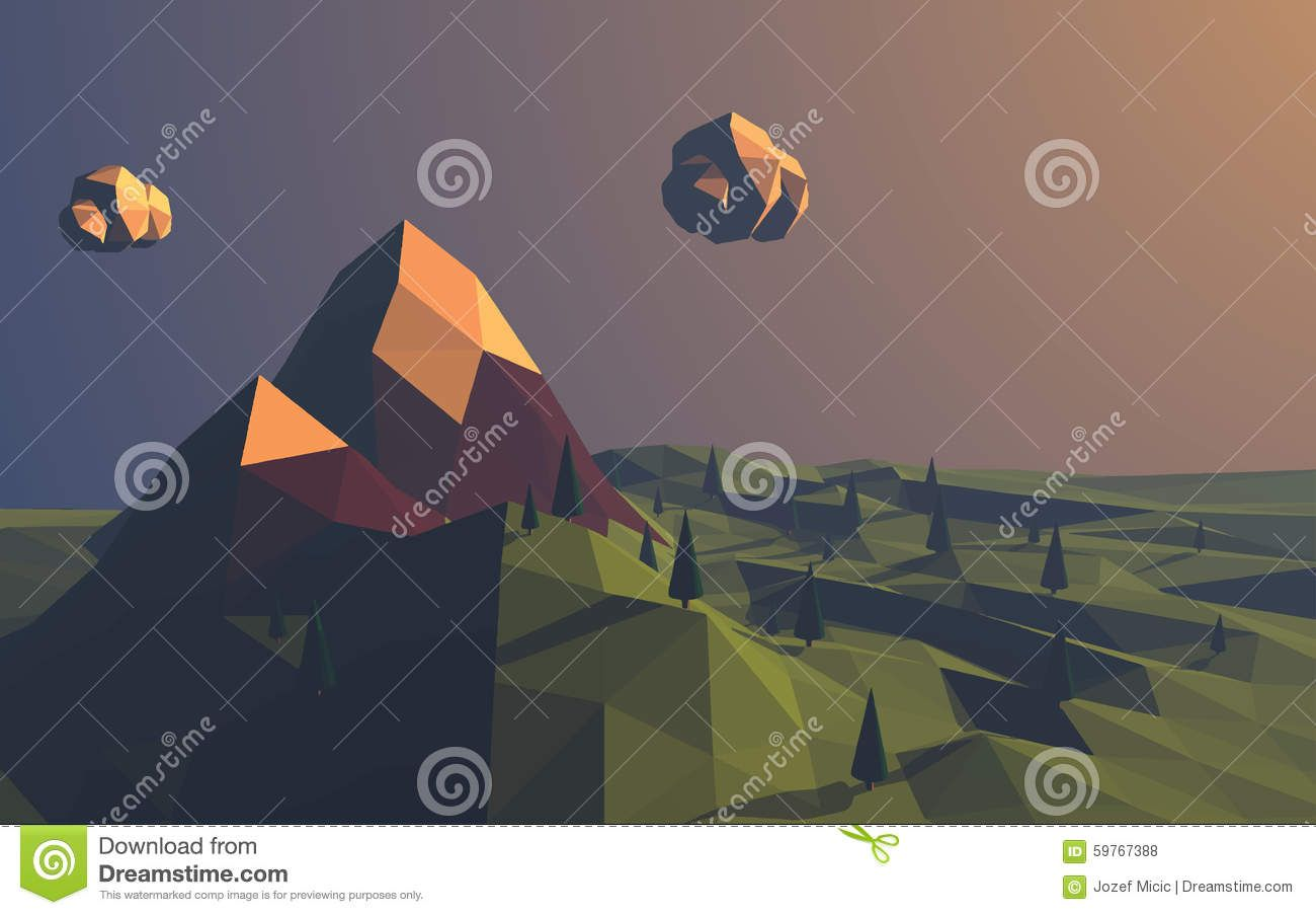 http://www.dreamstime.com/stock-illustration-low-poly-mountains-landscape-vector-background-polygonal-shapes-peaks-snow-top-trees-around-sunset-wallpaper-eps-image59767388