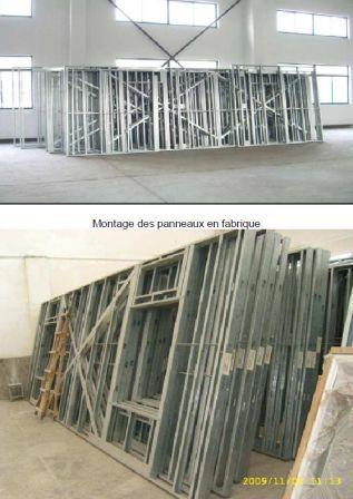La fabrication de lu0027ossature métallique est réalisée en usine - plan maison structure metallique
