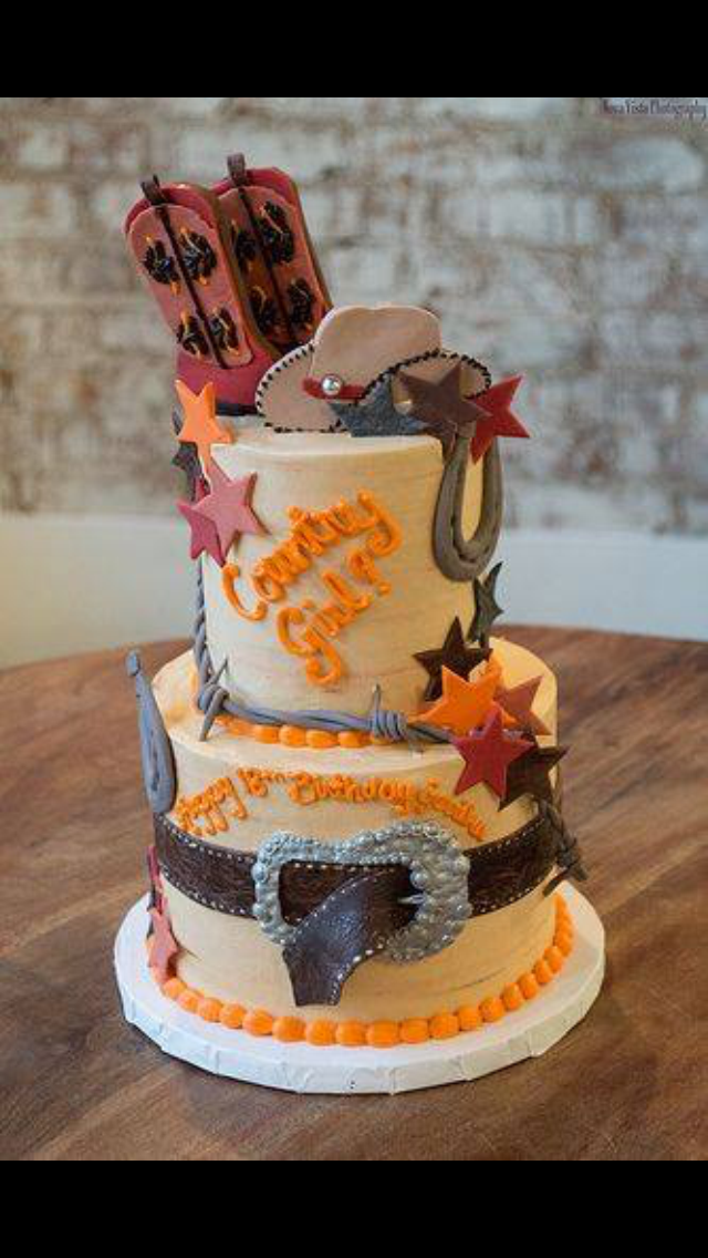 Superb Pin By Vanessa Mendez On Bake Decorate Country Girl Cakes Funny Birthday Cards Online Elaedamsfinfo