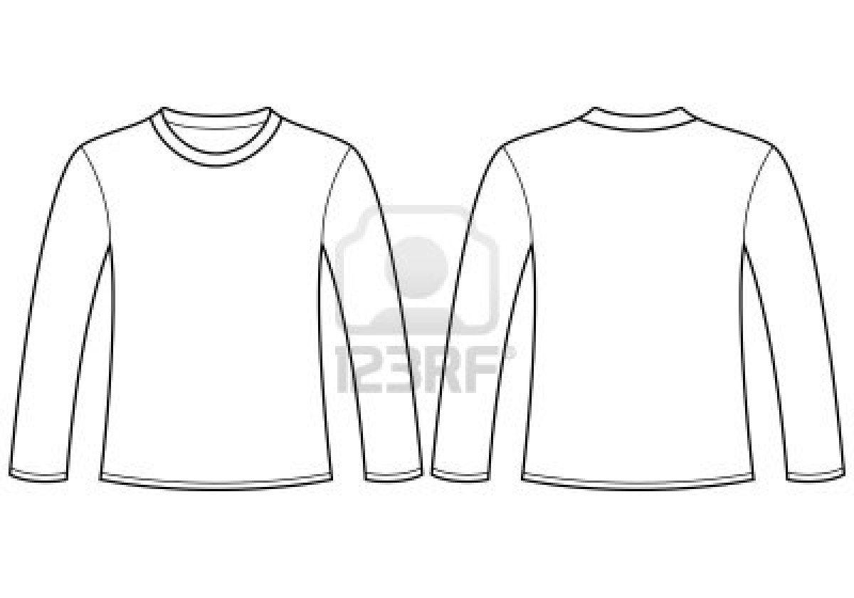 Long Sleeve Shirt Template Camiseta Manga Longa Camisas Longas