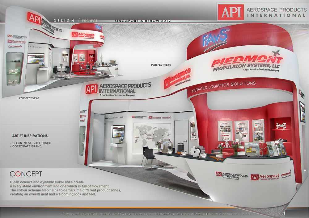 D Exhibition : Standard booth by amornwat osodprasit at coroflot