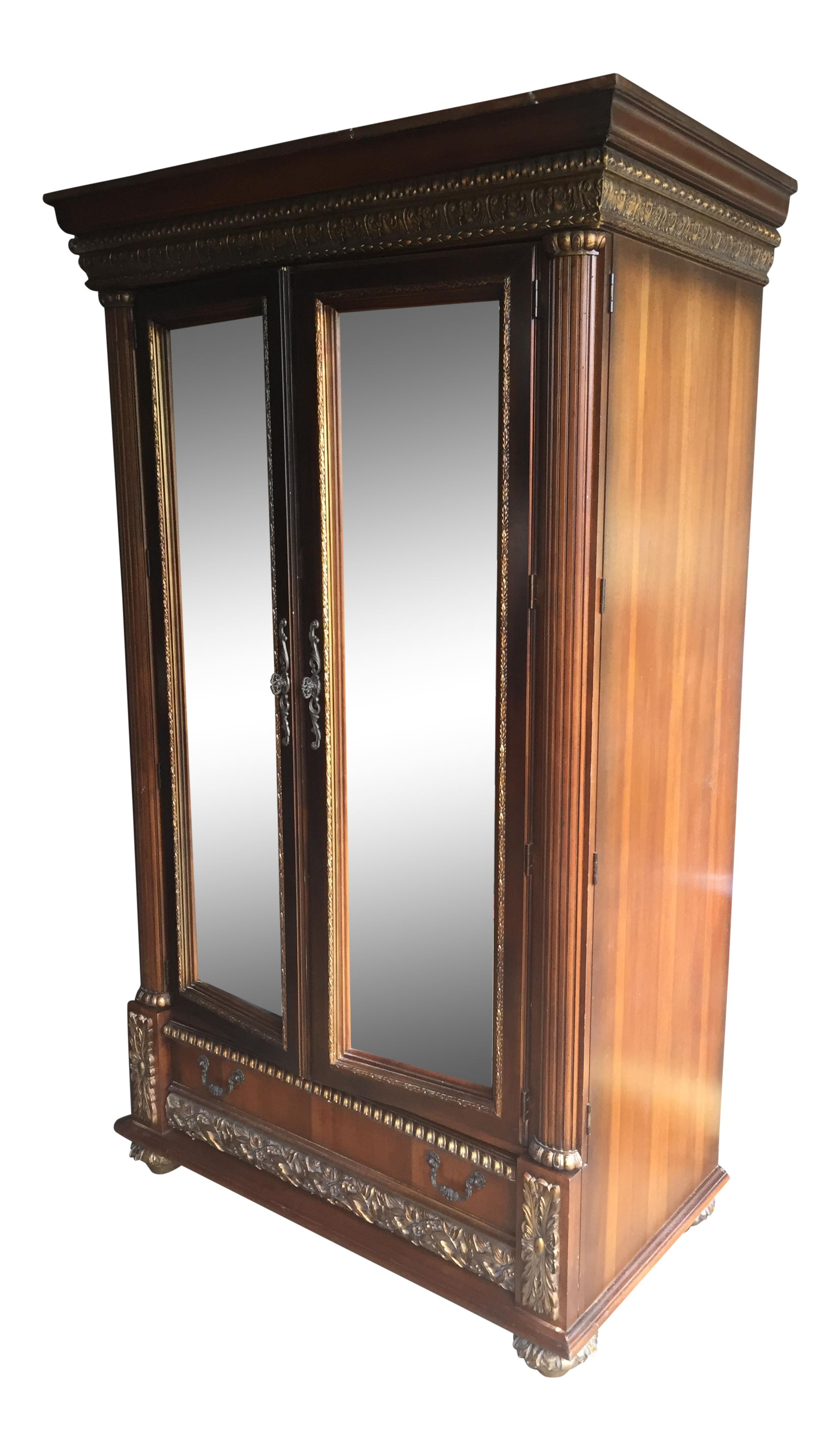 wardrobe pin mirrored vintage armoires and with door armoire