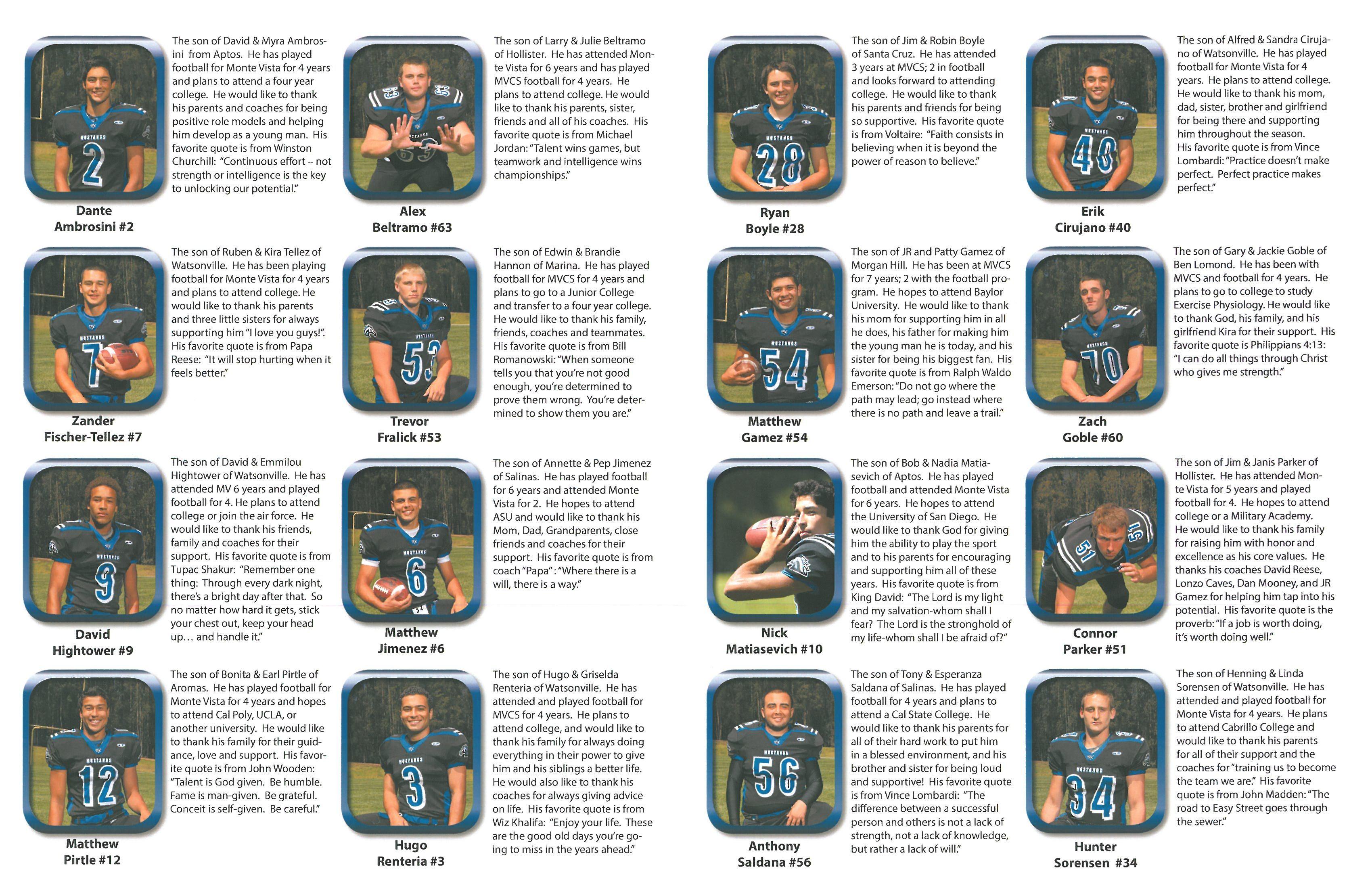 MVCS Football Senior Night Page 2 Senior night, Soccer